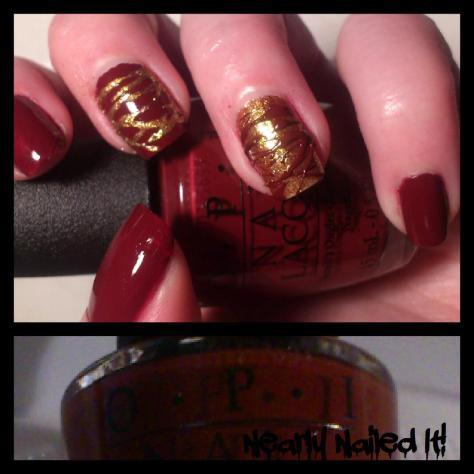 sugar spun manicure red